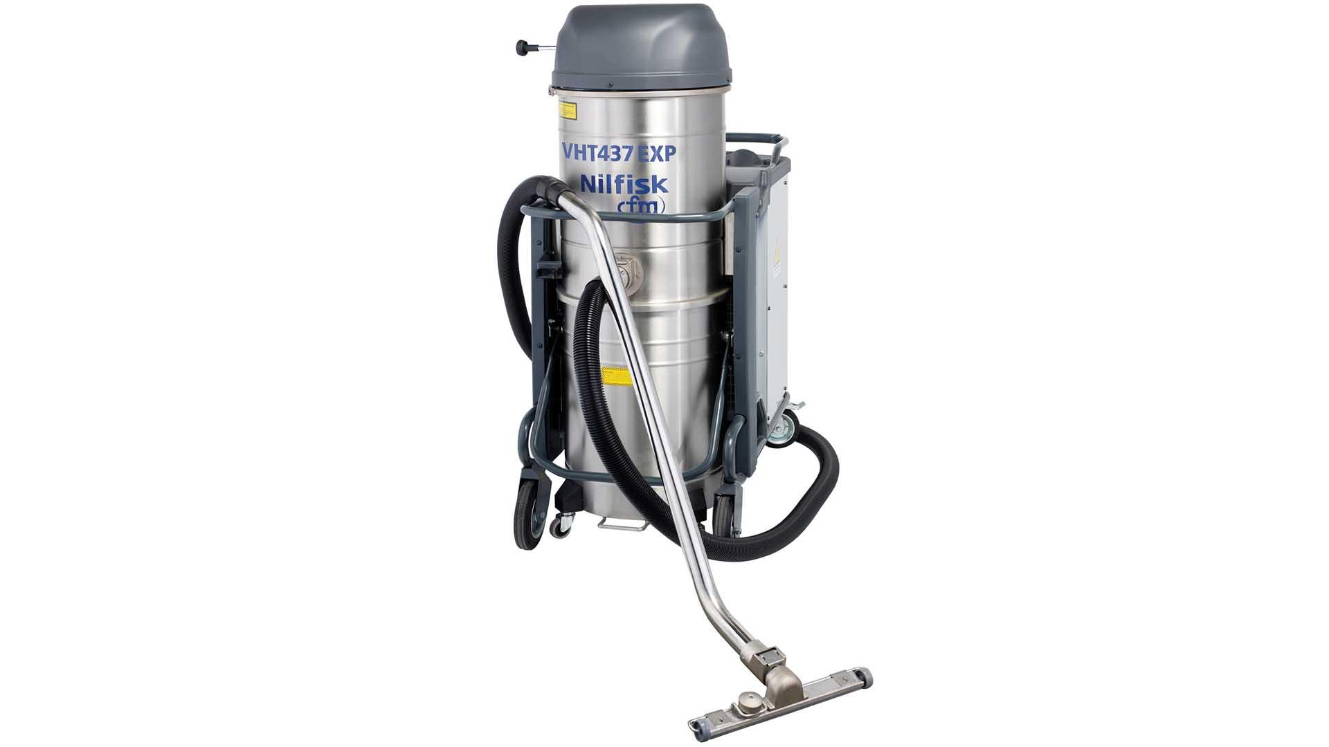 closeup of industrial vacuum